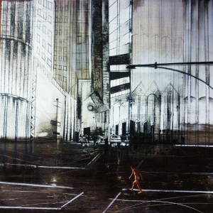 Evasione - 2013 - tecnica mista su tavola cm 30 x 30