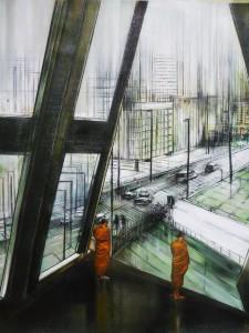 asceti - olio su tavola – cm 50 x 70 – 2010