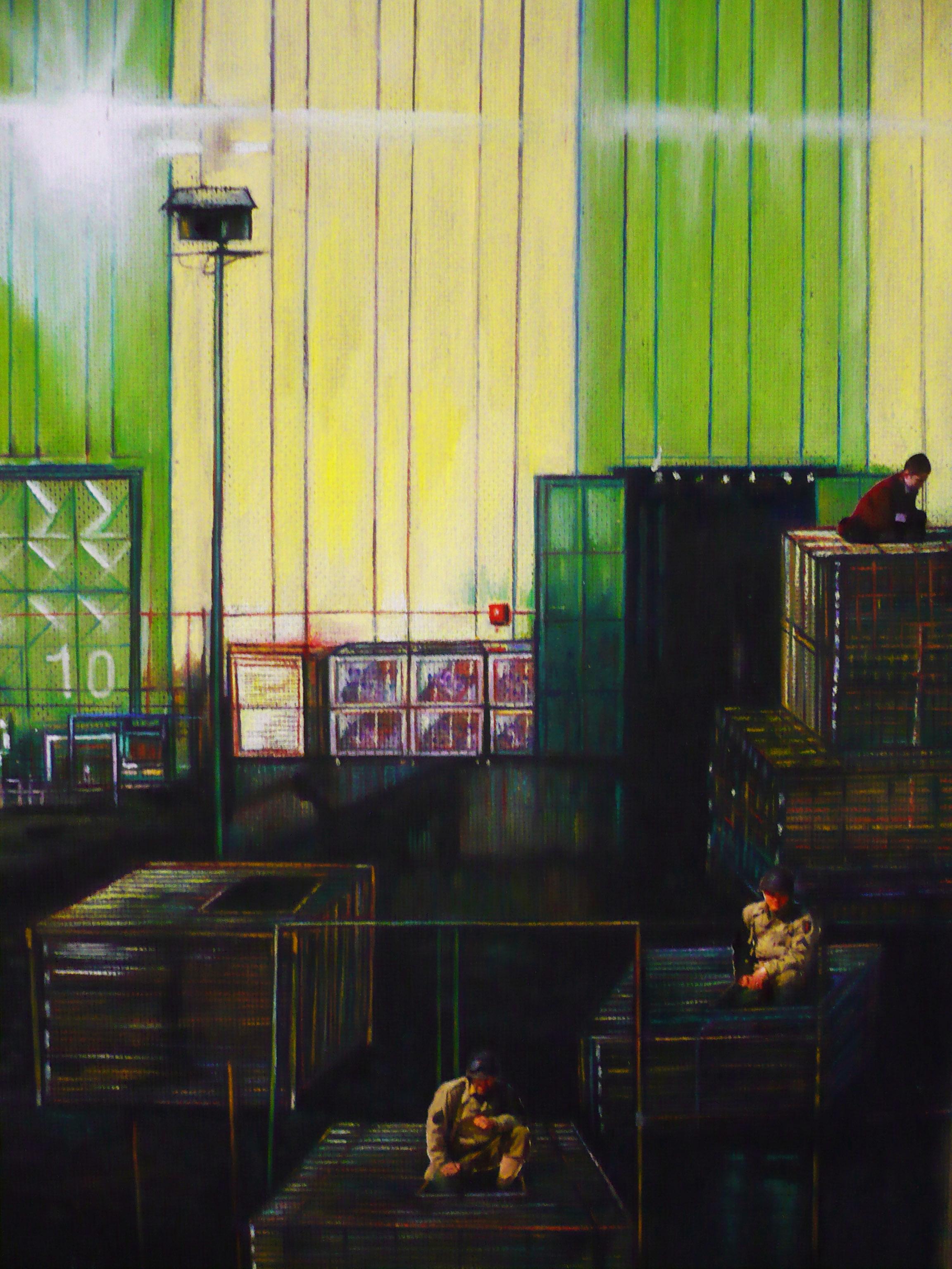 Deposito militare - tecnica mista su tavola – cm 30 x 40 – 2010
