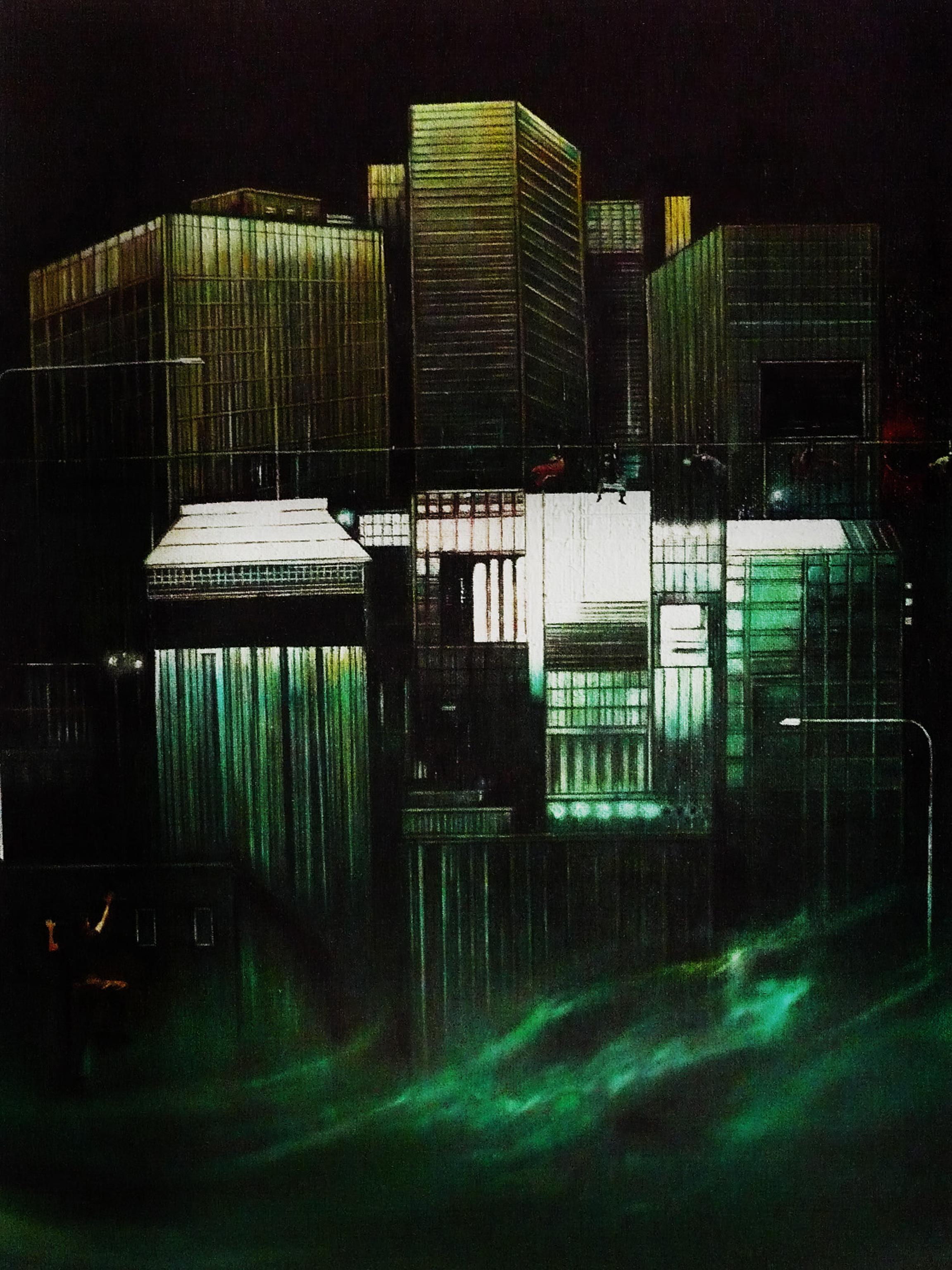 Uragani tecnica mista su tavola – cm 70×90 – 2013