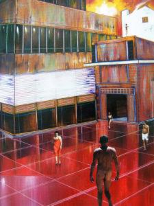 Pavimento rosso olio su tavola – cm 50 x 70 – 2010