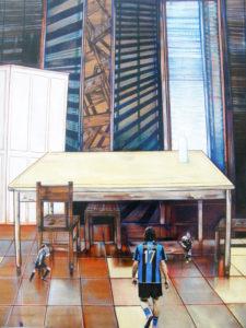 piccoli talenti - tecnica - olio su tavola - cm 50 x 70