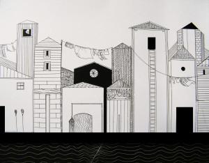 Studio per Libro d'Artista - LA CITTA' D'ACQUA 1